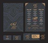 vector thai food restaurant menu template..