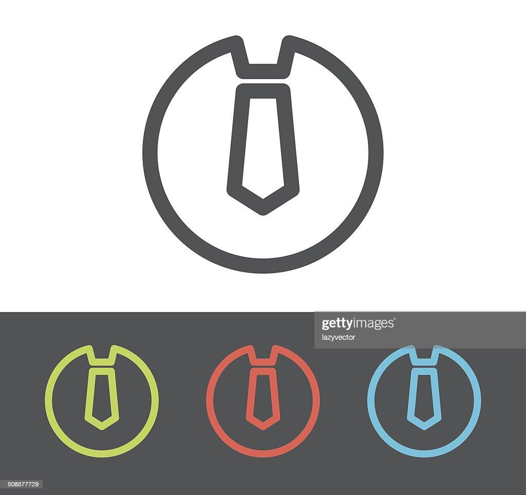 Icône de vecteur cravate : Clipart vectoriel
