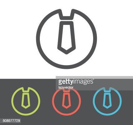 Vector tie icon : Vector Art