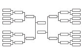 Vector tournament  bracket templates for sixteen teams.