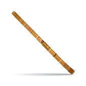 Vector illustration of traditional australian didgeridoo isolated on white background. Wind musical instrument in flat style.