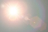 Vector sun light effect