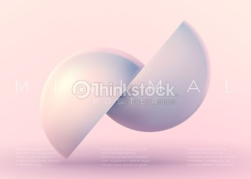 Vektor trendige minimal poster pastell lebendige hintergrund mit