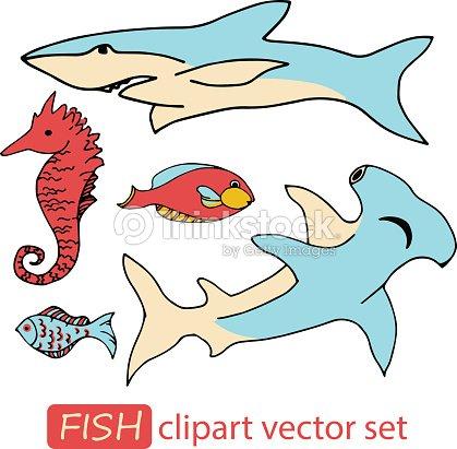 Vector underwater sea life animals