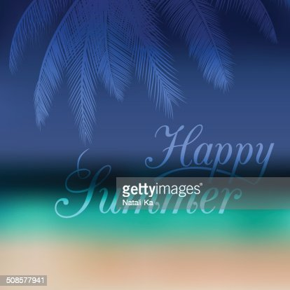 Vector unfocused summer travel background : Vector Art