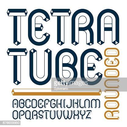 Alphabet Artistique vecteur haut de casse alphabet moderne jeu de lettres polices