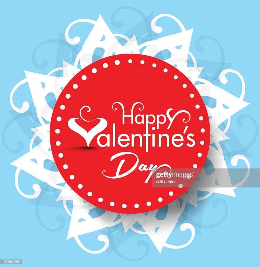Vector valentine day Text Background Illustration : Vector Art