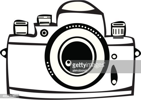 Camera Vintage Vector Free : Vector vintage film photo camera isolated on white background vector