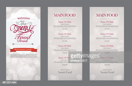 Mage Brochure | Vector Vintage Food Design Template Menu Restaurant Brochure Vector