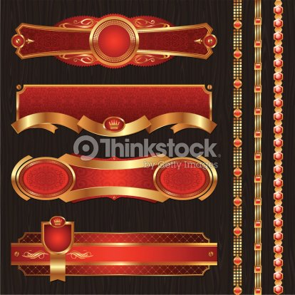 ce70df15457 Vector Vintage Golden Luxury Ornate Frames Borders stock vector ...