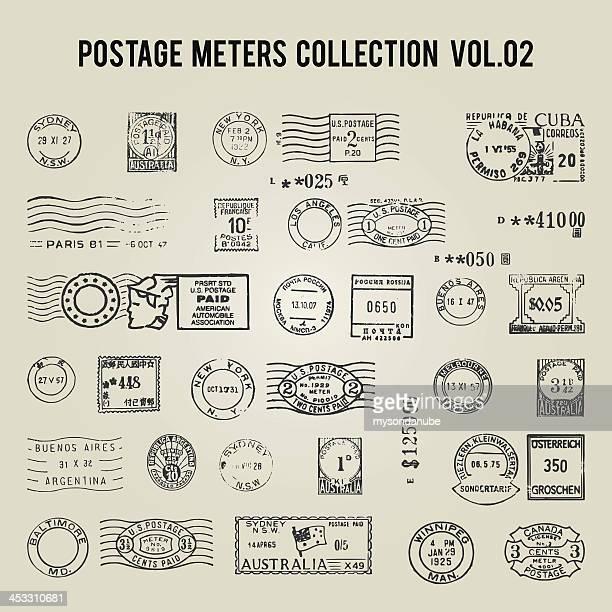 Vektor vintage postage meter
