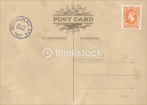 vector vintage postcard template vector art