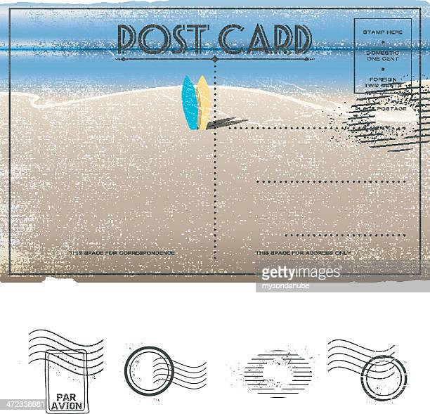 Beach Theme Card Stock: Postcard Stock Illustrations And Cartoons