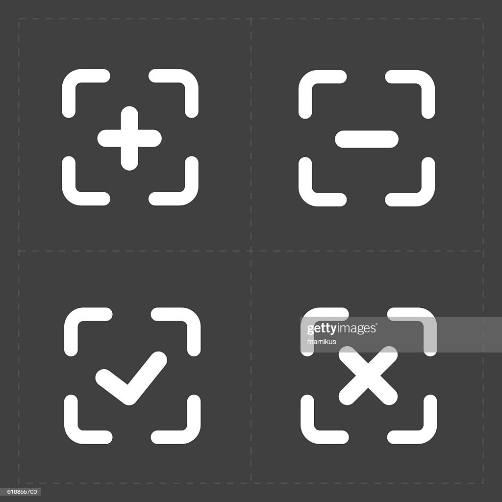Vector white confirm icons set : Vector Art