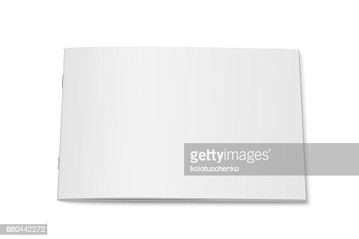 Blanco vector imitan para arriba de la revista aislada. : Arte vectorial