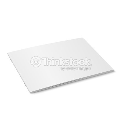 Vector white mock up of magazine isolated. : stock vector