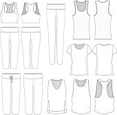 Various women's garments for mock up purposes