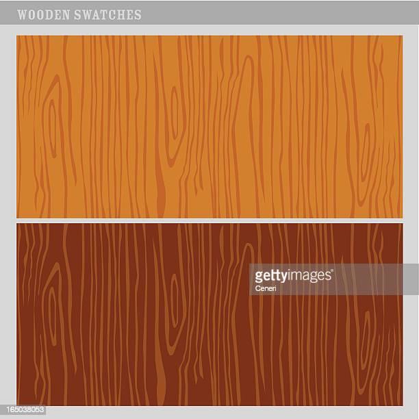 Vector wood texture swatches