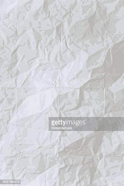 Vector wrinkled paper background