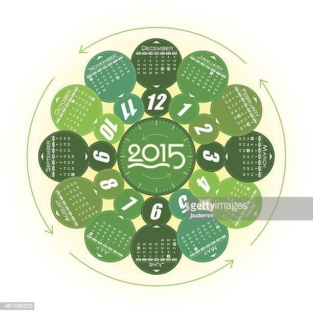 Vector Year of 2015 Calendar