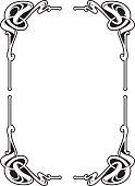Vectorized Art Nouveau frame Design.