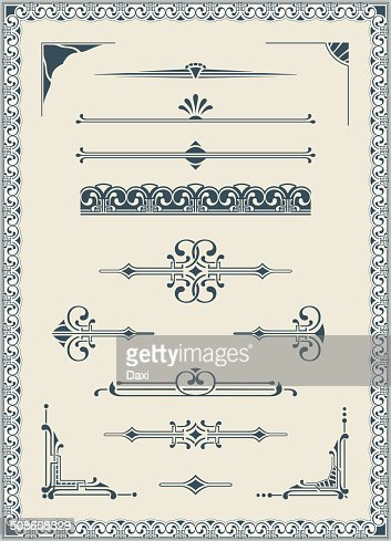 Vectorized Scroll Set and Blank Certificate : Vector Art