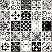 Abstract shapes background, Lisbon tile collection, Mediterrean style
