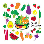 vector, illustration, vegan, picture frame, backgrounds, healthy lifestyle, eating, cartoon