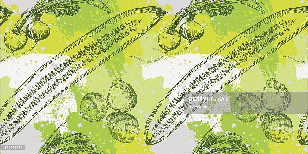 Vegetable grunge design vector art getty images for Vegetable design
