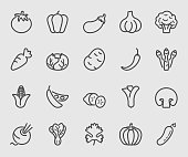 Vegetable line icon