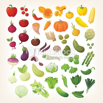 Vegetables in rainbow layout : stock vector