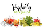 vegetables vector background