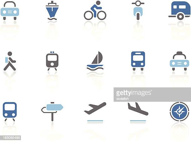 Vehicle and Transport icons | azur series