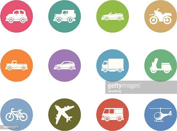 vehicle icon set