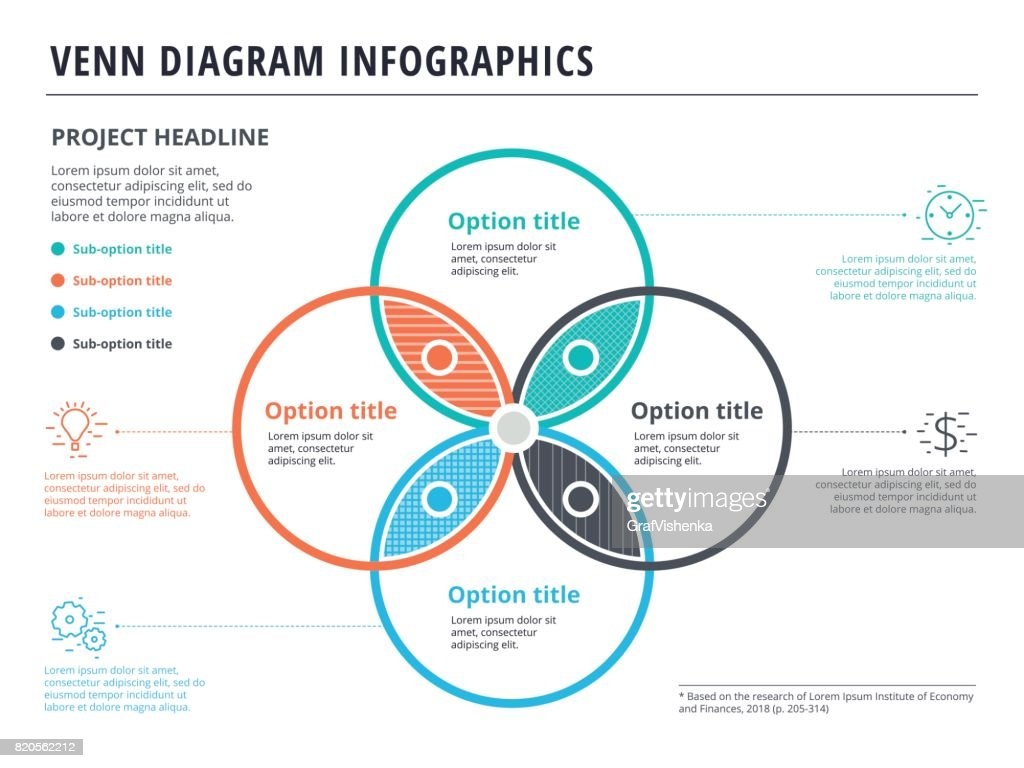 Logic Diagram Shapes Wiring Schematic Name And Block Of Fulladder Venn With 4 Circles Infographics Template Design Vector Full Adder