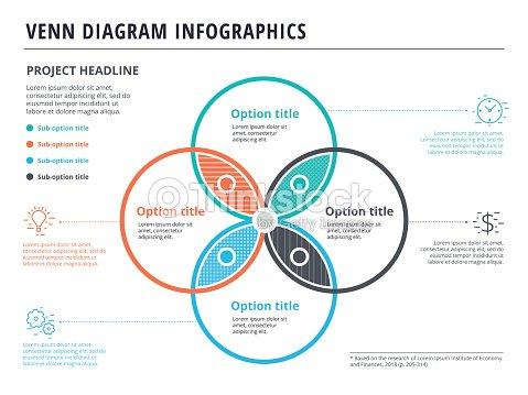 Diagramme de venn avec 4 cercles infographie modle de conception diagramme de venn avec 4 cercles infographie modle de conception vecteur des formes qui se chevauchent pour ensemble ou logique graphique illustration ccuart Images