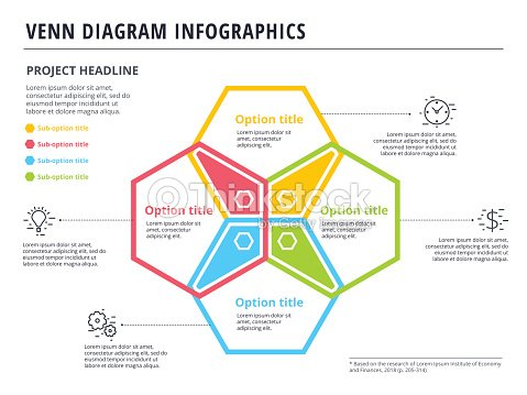 Venn Diagram With 4 Circles Infographics Template Design Vector