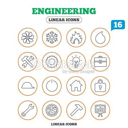 Belüftung Heizung Und Klimaanlage Symbole Vektorgrafik   Thinkstock