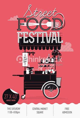 Vertical Banner Design On Street Food Festival Event Vector Art