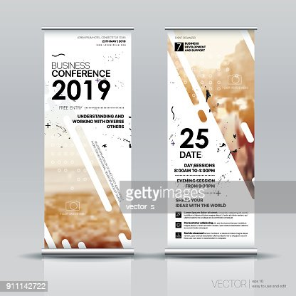 Vertical Banner Design, Signboard : stock vector
