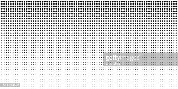 Vertical bw gradient halftone dots background, horizontal template using black halftone dots pattern. : stock vector