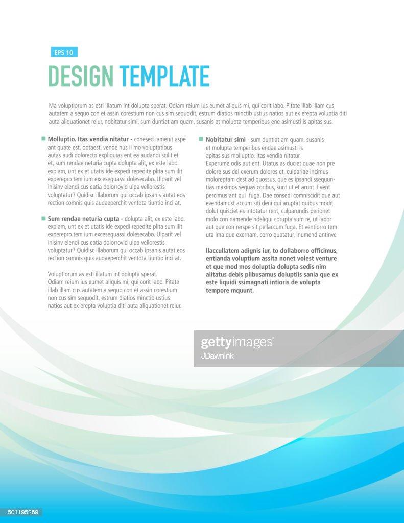 vertical design layout template aqua blue sample flyer vector vertical design layout template aqua blue sample flyer vector art