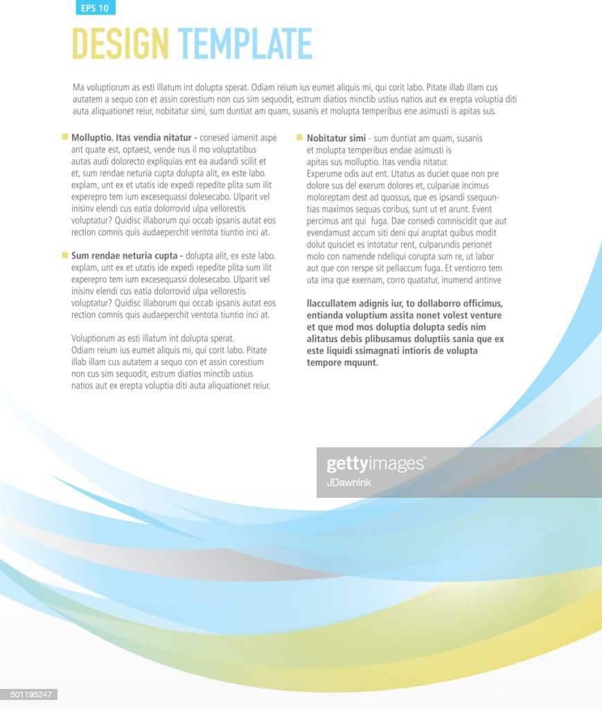 vertical design layout template blue and yellow sample flyer vertical design layout template blue and yellow sample flyer vector art