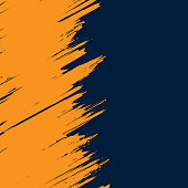 Abstarct dark blue background with grunge orange stroke