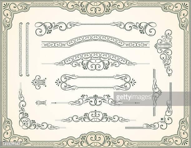 Viktorianischen Stil und Scroll-Set