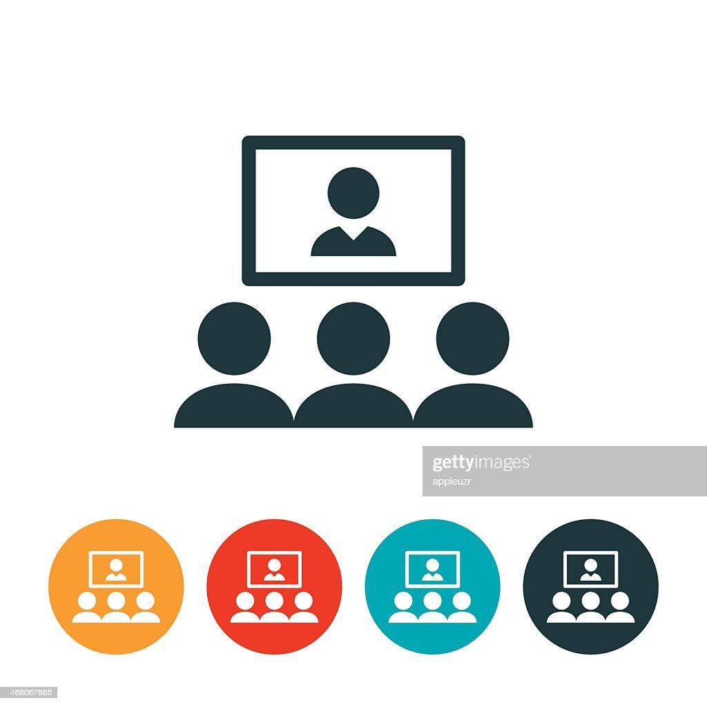 Video Conferencing Icon Vector Art | Getty Images