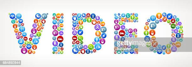 Video Future and Futuristic Technology Vector Buttons