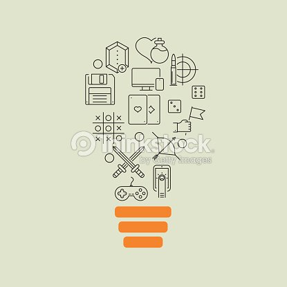 Video Game Outline Idea Background Vector Art Thinkstock - Video game outline