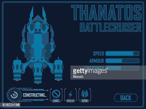Video game space ship : Clipart vectoriel