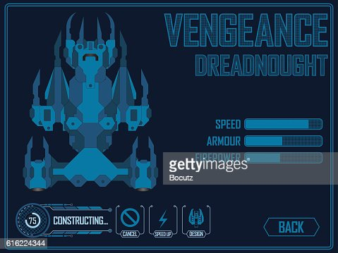 Video game space ship : Vector Art